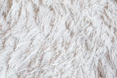 Furry white blanket texture warm fabric background. Furry white blanket or cloth. textured warm cozy and comfy fabric background. free space concept stock image