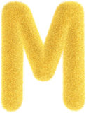 Furry yellow letter Royalty Free Stock Images