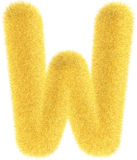 Furry yellow letter Stock Photo