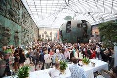 Furshet на вечере силуэта русского фондом призрения Стоковое фото RF