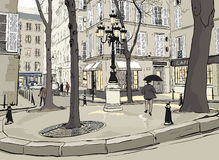 furstemberg Paris kwadrat Fotografia Royalty Free