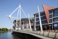 Furstendömestadion Cardiff royaltyfri fotografi
