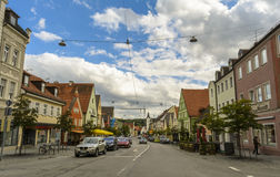 Furstenfeldbruck,巴法力亚街道视图 免版税库存照片