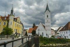 Furstenfeldbruck, βαυαρική παλαιά πόλη στη Γερμανία Στοκ Εικόνες
