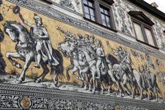 Furstenzug a Dresda, Germania Fotografia Stock
