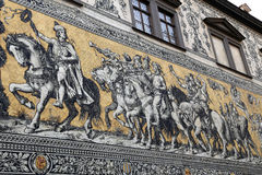 Furstenzug in Dresden, Germany Stock Photo