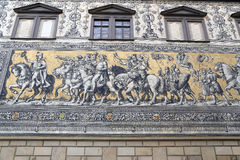Furstenzug in Dresden, Germany Stock Images