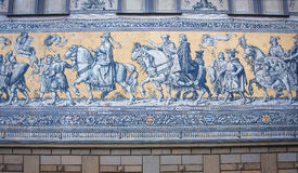 Furstenzug is a giant mural decorates the wall Royalty Free Stock Images