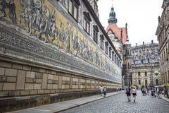 Furstenzug (procesión de príncipes) es un mural gigante adorna la pared Imagen de archivo libre de regalías