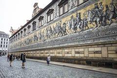 Furstenzug (procesión de príncipes) es un mural gigante adorna la pared Foto de archivo libre de regalías