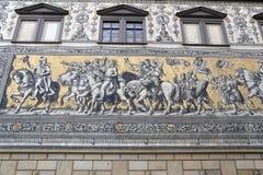 Furstenzug w Drezdeńskim, Niemcy Obrazy Stock