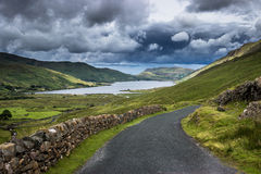 Further down the line. Lough na Fooey in Co. Mayo, Ireland. Beautiful part of the country just of the Wild Atlantic Way Royalty Free Stock Photo