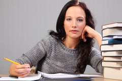 Further education for beautiful student woman Stock Photo