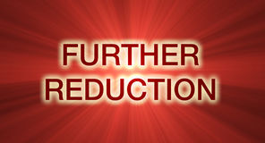 Further reduction sale red banner  Stock Photo