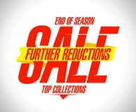 Further reductions sale design. Concept stock illustration