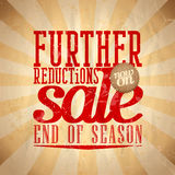 Further reductions sale design retro style. Stock Photos