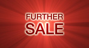 Further sale banner light halo Stock Photos
