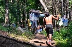 Furtian na Phu Kradueng śladzie zdjęcie stock
