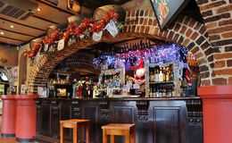 Furtianu domu irlandczyka pub Zdjęcie Stock