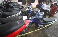 Furto con scasso del motociclo Immagine Stock Libera da Diritti