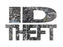 Furto di identificazione con documento tagliuzzato Fotografie Stock Libere da Diritti