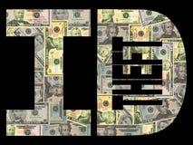 Furto di identificazione con i dollari Fotografia Stock