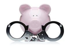 Furto di porcellino salvadanaio Fotografia Stock Libera da Diritti