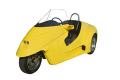 Furturistic yellow trike Royalty Free Stock Image