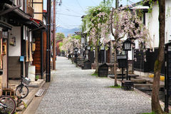 Furukawa, Hida. Furukawa village in Hida, Gifu prefecture, Japan. Famous old town with water canals Stock Photography