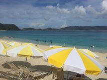 Furuzamami海滩, Zamami海岛,冲绳岛,日本,美丽的海滩,华美,惊奇 免版税库存图片