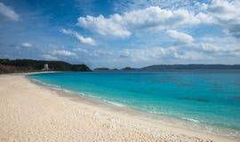 Furuzamami海滩, Zamami海岛,冲绳岛,日本 库存图片