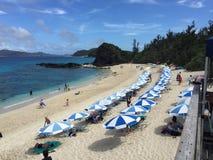 Furuzamami strand, Zamami ö, Okinawa, Japan, härlig strand, ursnyggt som förbluffar Arkivbild