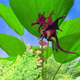 Fury Flying Dragon Stock Photo