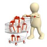 fury konsumpcyjny prezentów target237_1_ ilustracja wektor
