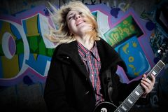 Fury rock star Stock Photography