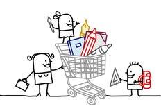 fury szkolne zakupy dostawy Fotografia Stock