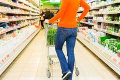 fury zakupy supermarketa kobieta Obraz Royalty Free