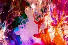 Fusão fluida colorida fotos de stock