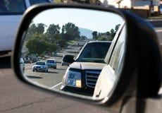 Fusão no tráfego da rua Fotos de Stock