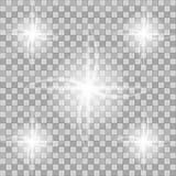 fusée d'or de lentille Ensemble d'effet de la lumière de vecteur de lueur, explosion, scintillement, étincelle, éclair du soleil, Images libres de droits