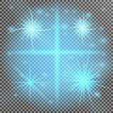 fusée d'or de lentille Ensemble d'effet de la lumière de vecteur de lueur, explosion, scintillement, étincelle, éclair du soleil, illustration libre de droits