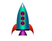 fusée de dessin animé Images stock