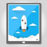 fusée de fond Photos libres de droits