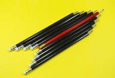 Fusée en bois de crayons Image stock