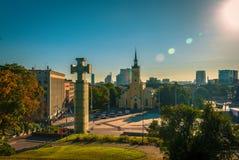 Fusée et monuments de lentille dans Tallin, Estonie photos libres de droits