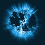 Fusée globale rougeoyante de faisceau lumineux de l'Asie illustration de vecteur