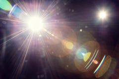 Fusée naturelle de lentille photo libre de droits