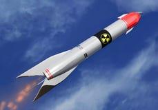 Fusée nucléaire intercontinentale au ciel illustration de vecteur