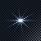 Fusée réaliste de lentille Effet de la lumière Photos stock