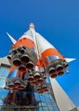 Fusée russe de transport de l'espace Photo stock